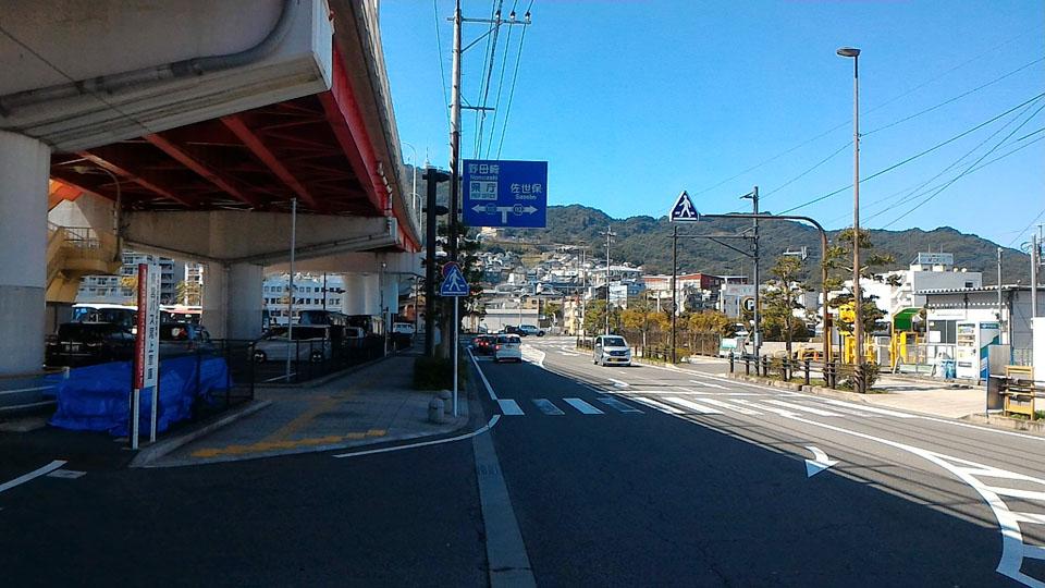旭大橋下の道路2
