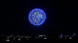 県庁から観たみなと祭りの花火