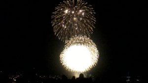 長崎県庁から見る花火