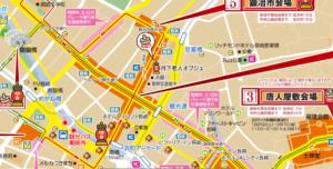 長崎ランタンフェスティバル2020地図
