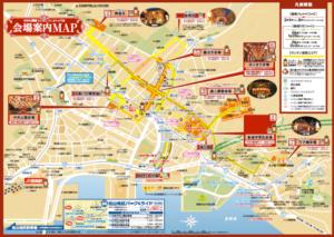 長崎ランタンフェスティバル2020 地図